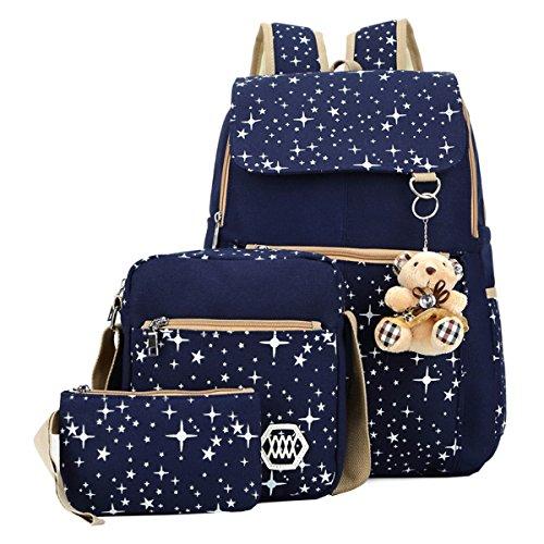 gifts for tween girls Starry Night Girl's Canvas Backpack and Shoulder Bag Set