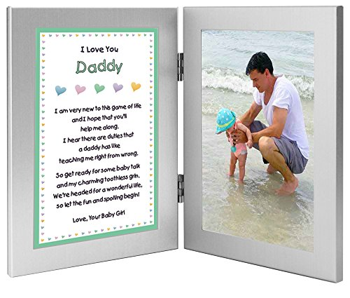 Dad Poem Picture Frame. Sentimental New Dad Gift.