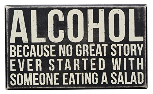 Funny Sign about Alcohol. Great 21st Birthday Gift Idea for Your Boyfriend.