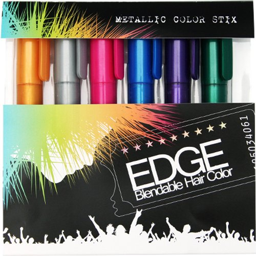 gifts for tween girls Edge Hair Chalkers. Six colors - gold, silver, pink, blue, purple, and green. Temporary hair color product.