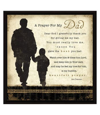 Religious Father's Day Gift from Daughter. A Prayer for My Dad Wall Plaque. Home decor.
