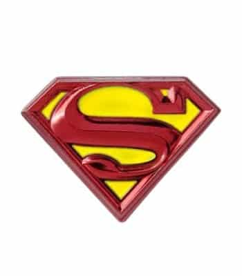 Great Father's Day Gift for Geek Dad. Superman Lapel Pin.
