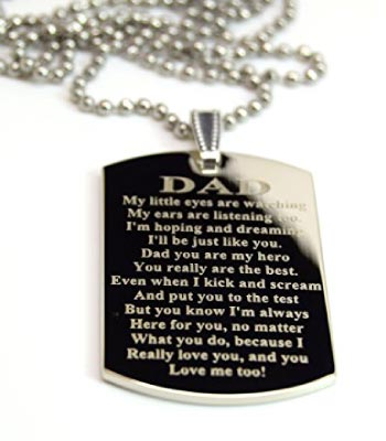 Engraved Tag for Dad