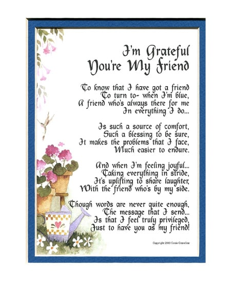 Friendship Poem | Happy Best Friend Day! Best Friendship Gift Ideas