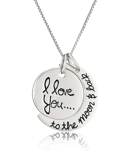 I Love You to The Moon And Back Pendant Necklace | Happy Best Friend Day! Best Friendship Gift Ideas
