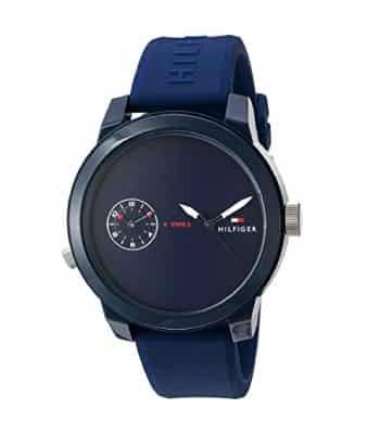 Navy Blue Watch for Men. Tommy Hilfiger Men's Denim Watch