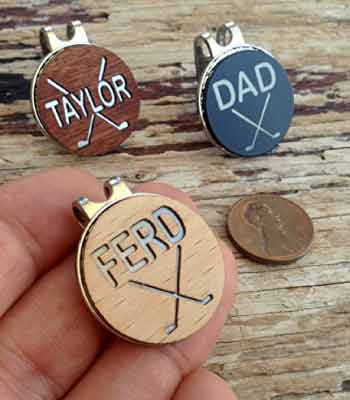 Perfect Father's Day Gift for Golfer -- Personalized Golf Ball Marker.