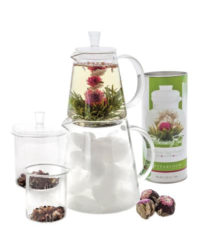 Teabloom Flowering Tea Set - gift ideas for staff - Receptionist gifts ideas