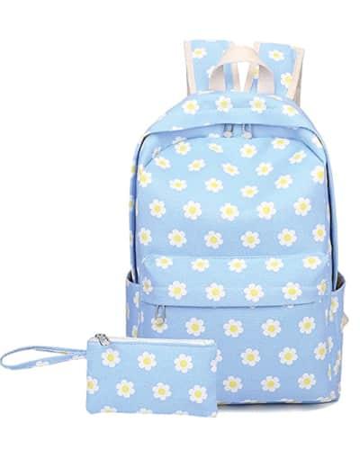 Sky Blue Flowers Canvas Bag