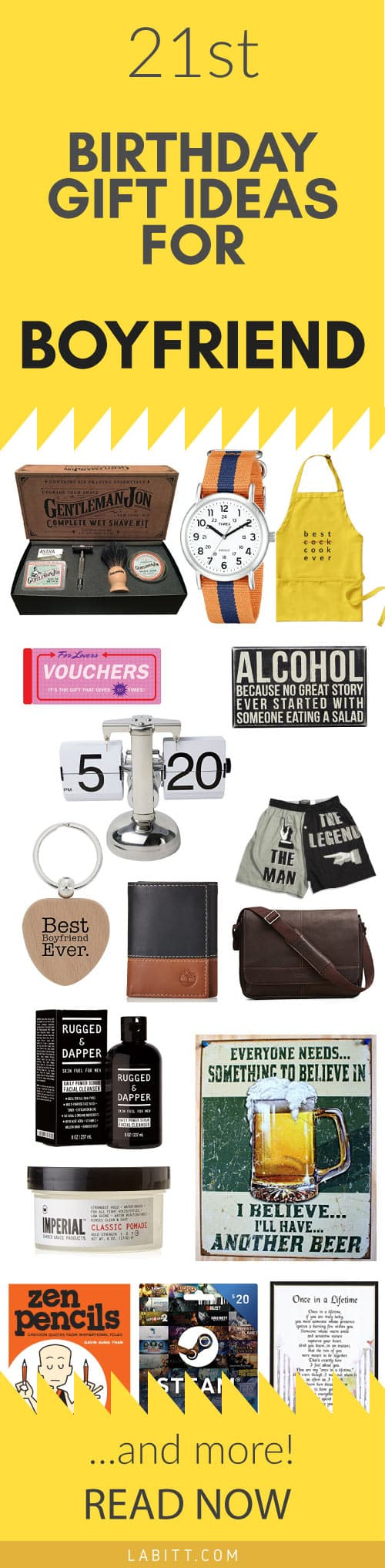 What do you think of these 21st birthday gift ideas for boyfriend? Let me know in the comment section below.