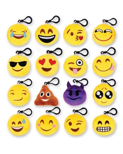 emoji mini plush pillow keychain