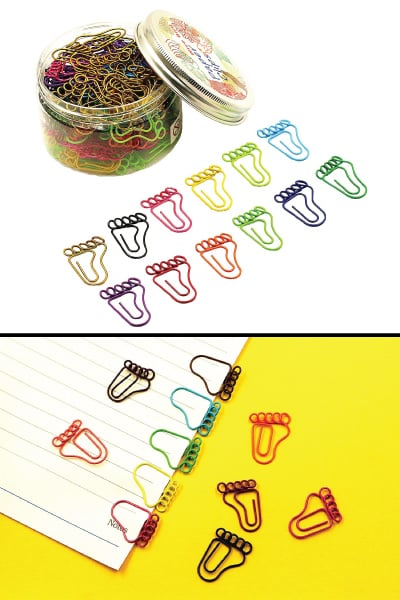 Footprint Paper Clips | End of Year Student Gifts from Teacher