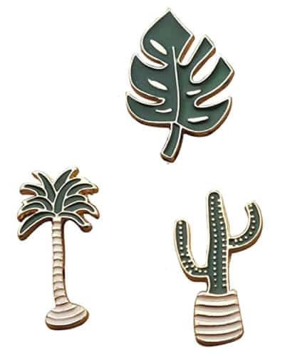Plants Enamel Lapel Pins | Receptionist Day appreciation gift ideas from boss