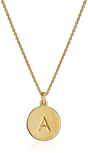 Kate Spade New York Gold-Tone Alphabet A-Z Pendant Necklace. Monogram. 5 Year Wedding Anniversary Gift Ideas for Her, for Wife. Women Gifts.