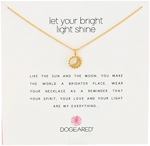 Dogeared Reminder Let Your Bright Light Shine Pendant Necklace on Keepsake Card. 15 Year Wedding Anniversary Gift Ideas for Her, for Wife. Women Gifts.