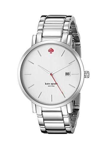 """Kate Spade New York Women's """"Gramercy"""". With date. White dial. 5 Year Wedding Anniversary Gift Ideas for Her, for Wife. Women Gifts."""