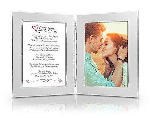 Romantic Poem Photo Frame. 15th Wedding Anniversary Gift Ideas for Him and for Her. Gifts For Husband and Wife.
