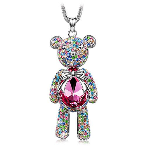"""J.NINA """"Bear Princess"""". Crystal. . 15th Wedding Anniversary Gift Ideas for Her, for Wife. Women Gifts."""