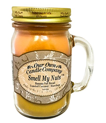 Our Own Candle Company Smell My Nuts Scented Mason Jar Candle. Funny 21st Birthday Gifts for Girlfriend who has a sense of humor. Gifts For girls turning 21.