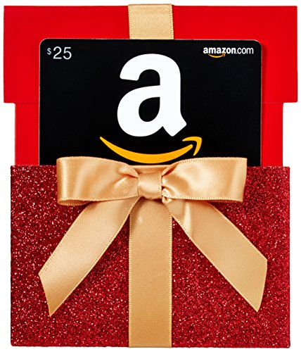 Amazon.com Gift Card in Gift Box Reveal. Red. Bling. Ribbon. Perfect for a girl's 21st birthday. Birthday Gift Idea for Girls turning 21, for friend, for girlfriend, for her.