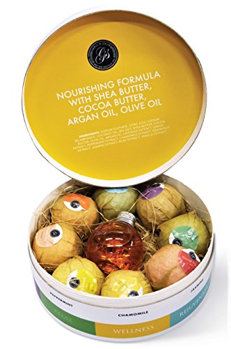 Grace & Stella Moisturizing Bath Bomb Gift Set. Shea butter, cocoa butter, argan oil, olive oil. Bathing and wellness idea. Great 21st birthday gift for girlfriend, for her, for women, for girls turning 21