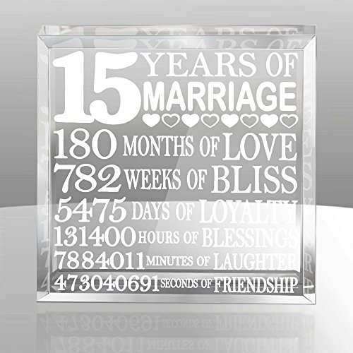 Kate Posh - Our 15th Anniversary Keepsake. 15th Wedding Anniversary Gift Ideas for Him and for Her. Gifts For Husband and Wife.
