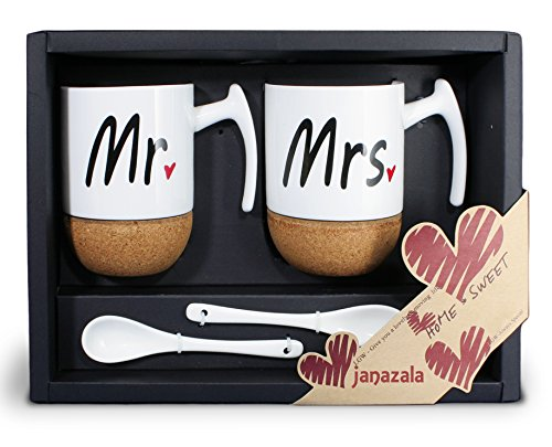 Mr and Mrs Ceramic Coffee Mugs. 15th Wedding Anniversary Gift Ideas for Him and for Her. Gifts For Husband and Wife.