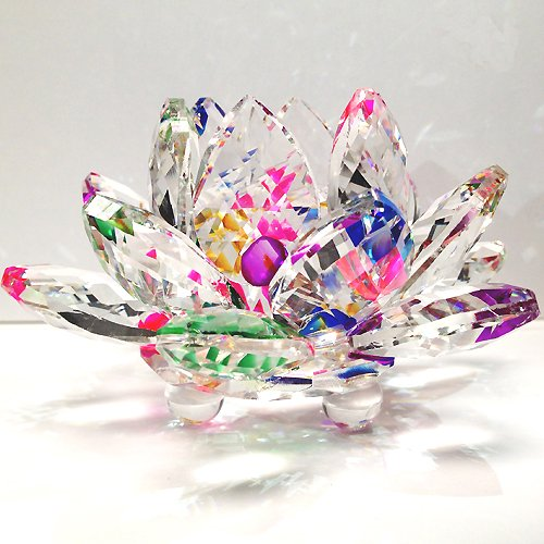 Amlong Crystal Sparkle Crystal Lotus Flower. 15th Wedding Anniversary Gift Ideas for Her, for Wife. Women Gifts.