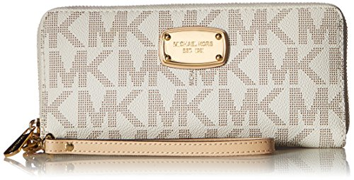 Michael Kors Women's Jet Set Zip Around Continental Wallet. 15 Year Wedding Anniversary Gift Ideas for Her, for Wife. Women Gifts.