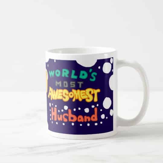 World's Most Awesomest Husband Mug. 15th Wedding Anniversary Gift Ideas for Him, for Husband. Men Gifts for Guys.