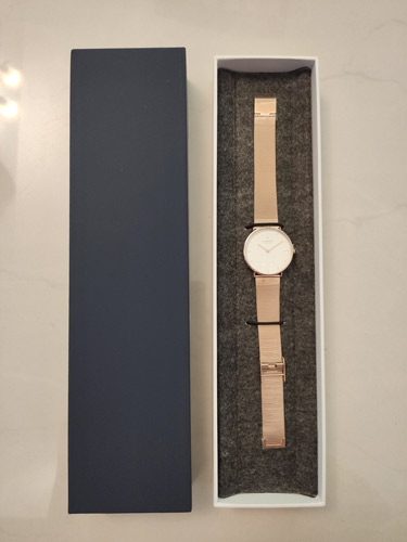 Nordgreen rose gold watch in the box