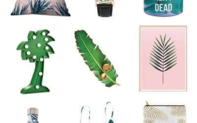 24 Tropical Decor and Leaf Pattern Items to Have