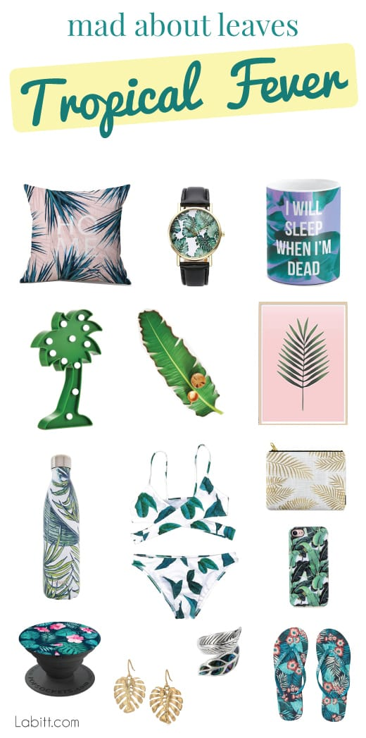 Tropical Decor and Leaf Pattern Outfits
