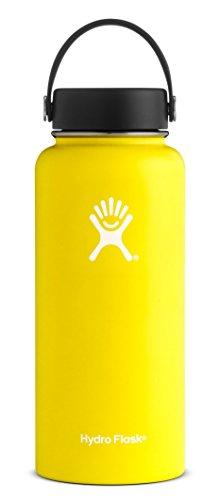 Hydro Flask Yellow Water Bottle