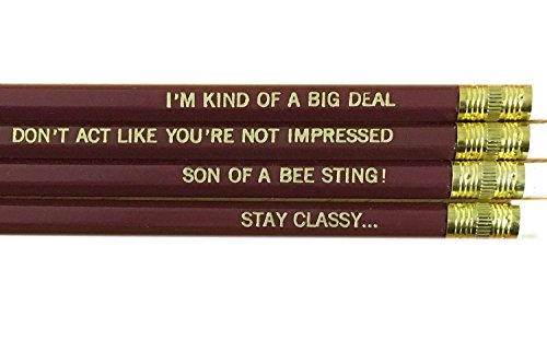 Anchorman Ron Quotes Pencil Set - Brown
