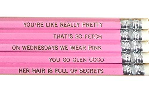 Mean Girls Pencil Set - Pink