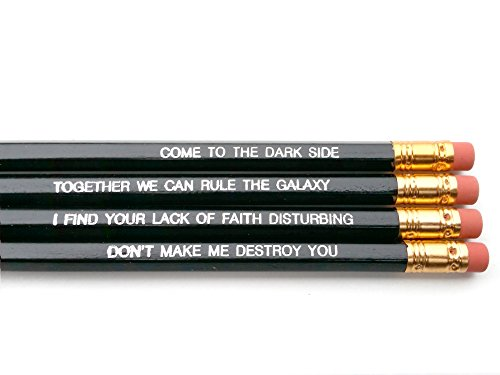Darth Vader Star Wars Quotes Pencil Set