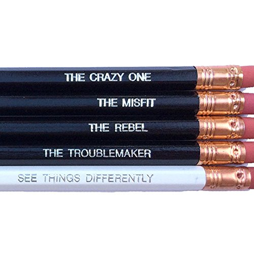 Steve Jobs Quotes Pencile Set - Black and White