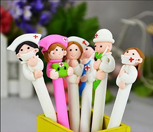 Cute Doctor & Nurse Pens. Stationery gift idea for a doctor.