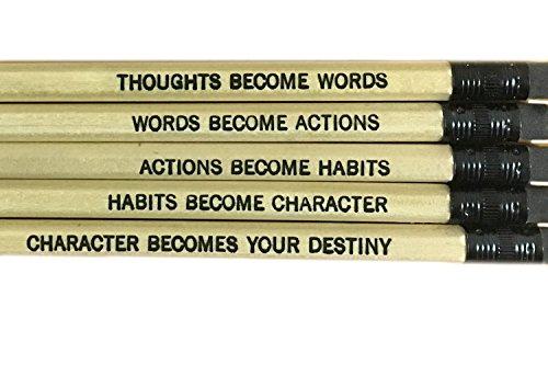 Gandhi Quotes Pencil Set with Eraser