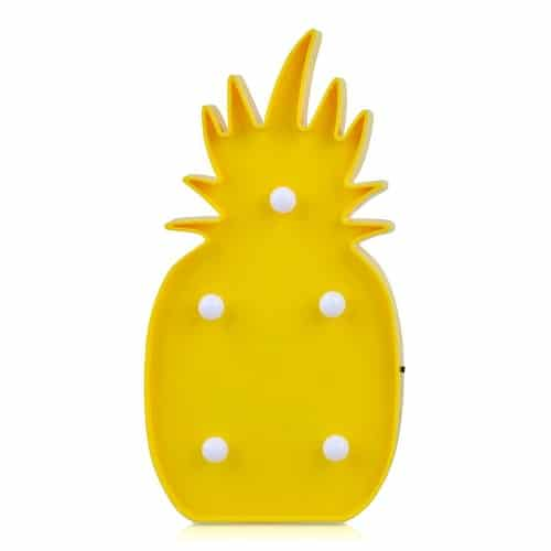 Pineapple Light to add tropical feel to your room (Dorm Room Decor)