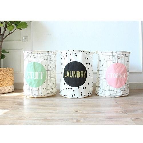 Laundry Storage Basket- Dorm room ideas for girls college