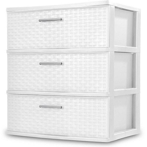 Sterilite Weave Storage Organization. Dorm Room Organization