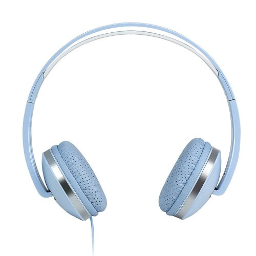 Pastel Blue Sport Headphones. Tech gadgets for girls under 20.