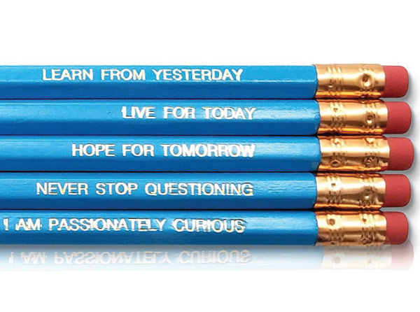 motivational pencils with short albert einstein quotes