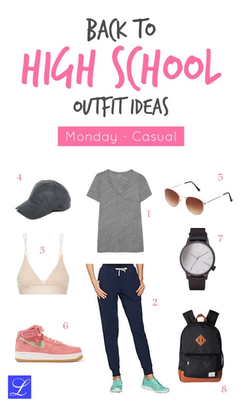 Monday - casual - back to school outfit ideas for high school girls