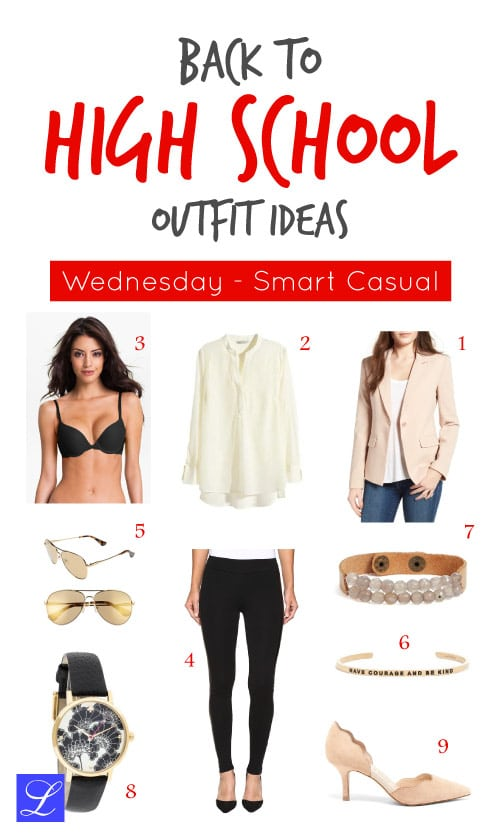 Smart casual wednesday - back to school outfit ideas for high school teen girls.