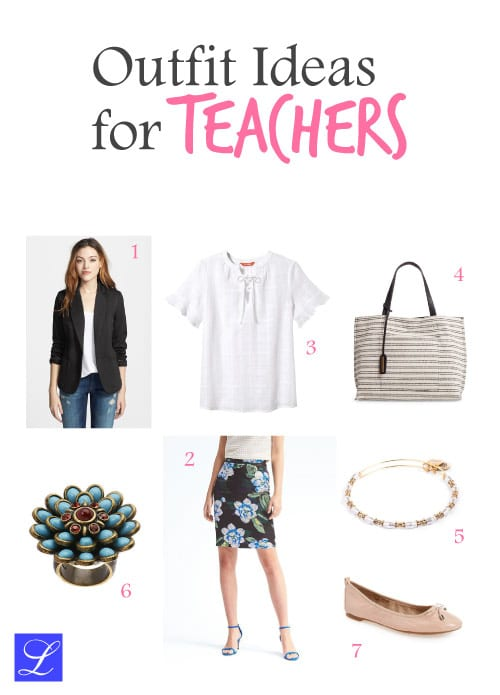 Outfit #1. Cool outfit ideas for teachers. Back to school outfits for female teachers.