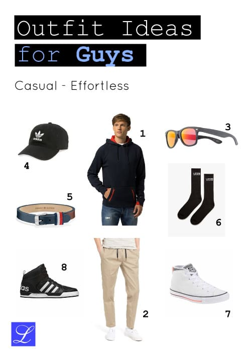 Casual Effortless Back to School Outfit Clothes Ideas for Guys. Perfect for back hair days or when you're running late.