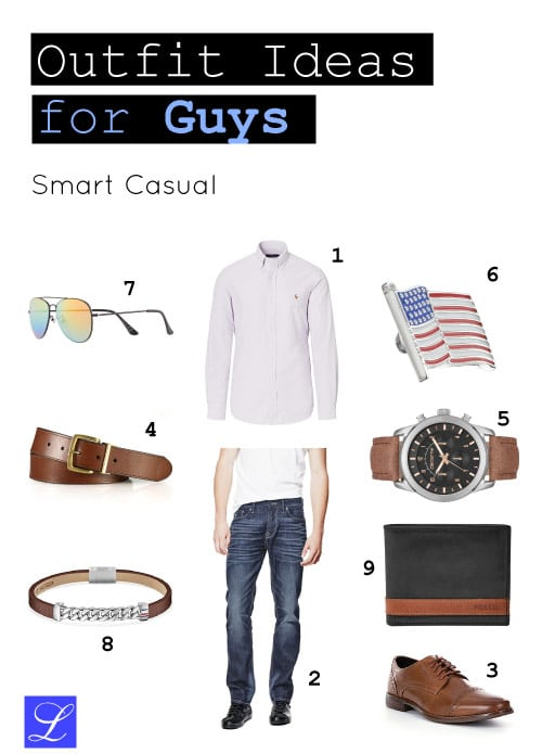 Smart casual - back to school outfit ideas for guys/ boys/ men.